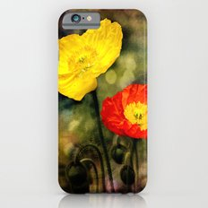 Yellow and Red Poppies Slim Case iPhone 6s