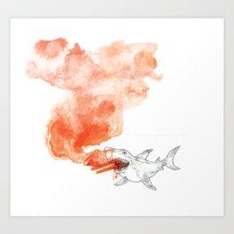 Shark Attack!  Art Print