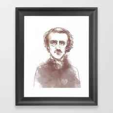 Edgar Allen Poe Framed Art Print