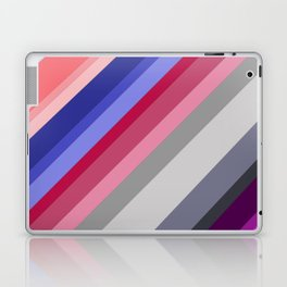 grey blue pink purple stripes Laptop & iPad Skin