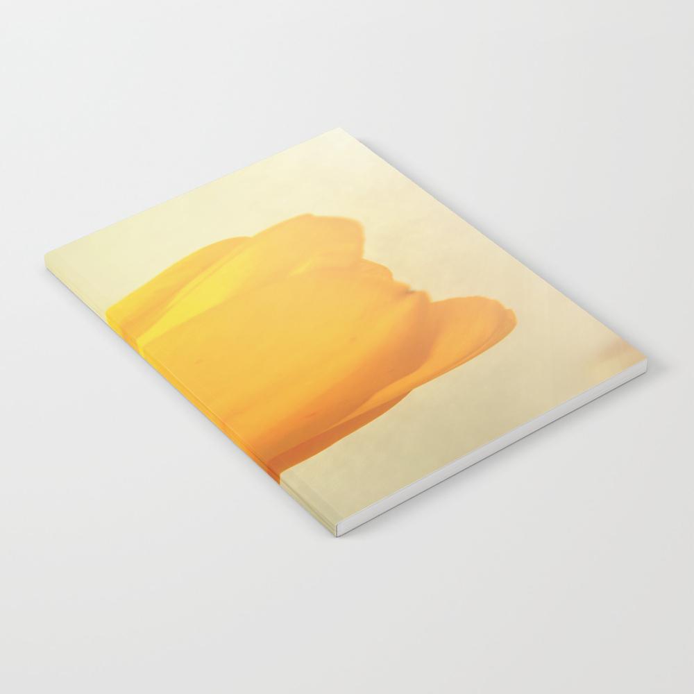 Bright Yellow Tulip Notebook by Julianarw NBK9046113