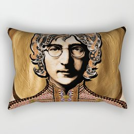 Boho Beatle (John) Rectangular Pillow