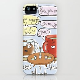 Depresso & HonesTEA iPhone Case