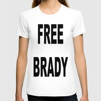 patriots T-shirts featuring FREE BRADY by designbook