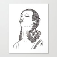 givenchy Canvas Prints featuring Givenchy by Grace Ban
