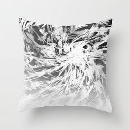 B&W Abstract Spiral Throw Pillow
