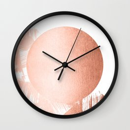 Sun Paint Swipes in Sweet Peach Shimmer Wall Clock