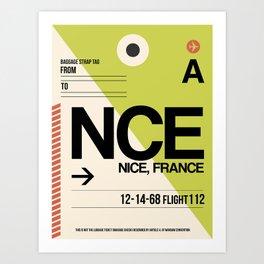 NCE Nice Luggage Tag 2 Art Print