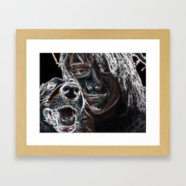 Coping With Fred Framed Art Print