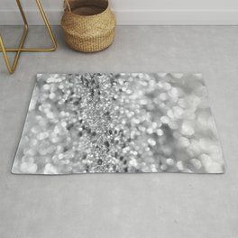 Silver Gray Lady Glitter #1 #shiny #decor #art #society6 Rug