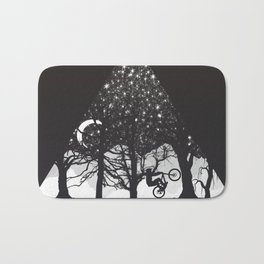 MTB Black Trees Bath Mat