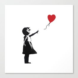 Banksy - Girl With Balloon Canvas Print