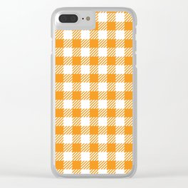 Orange Vichy Clear iPhone Case