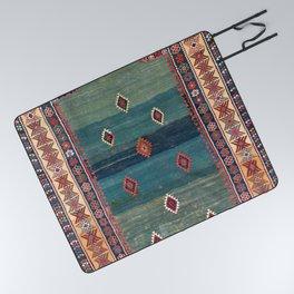 Sivas Antique Turkish Niche Kilim Print Picnic Blanket