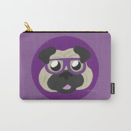 Purple Pug Carry-All Pouch