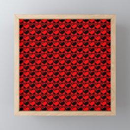 Hearts Love Collage Framed Mini Art Print