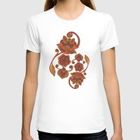 boho T-shirts featuring Boho Flowers by Valentina Harper