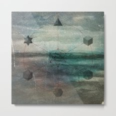Platonic Solids Metal Print