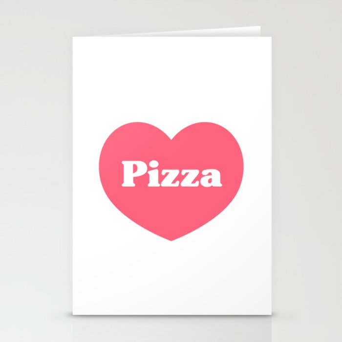 Heart Pizza Stationery Cards