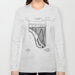 Steinway Piano Patent - Piano Player Art - Black And White Long Sleeve T-shirt