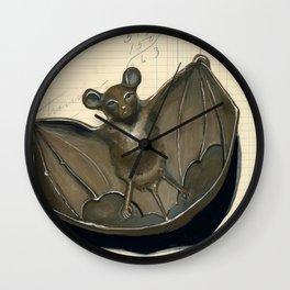 Metal Bat Tray in Gouache Wall Clock