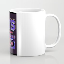 Vintage Totally 80s Disco Music Radio Cassette Coffee Mug