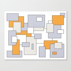 Squares - orange, gray and white. Canvas Print