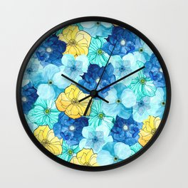 The Hellebores 2 Wall Clock