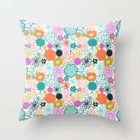 chelsea Throw Pillows featuring Chelsea by Elephant & Rose