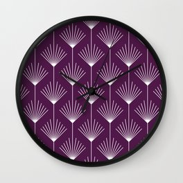 Loulou Colorful Fronds   Beautiful Interior Design Wall Clock