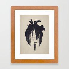 In the Heart of the City Framed Art Print