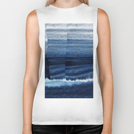 Blue Escape Watercolor Biker Tank