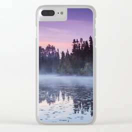 Colorful Summer Sunrise in the Boundary Waters Clear iPhone Case