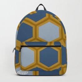 HONEYCOMB | BLUE + GOLD Backpack
