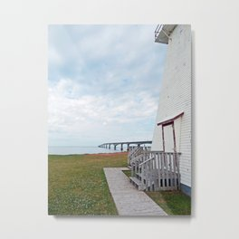 Bridge and Lighthouse Metal Print