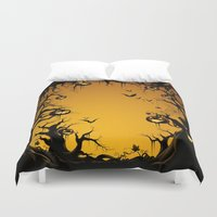 scary Duvet Covers featuring SCARY HALLOWEEN by Acus