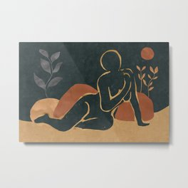 Woman Resting In The Nature Metal Print