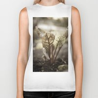 plant Biker Tanks featuring PLANT by zulema revilla