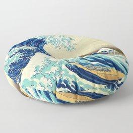 The Great Wave Off Kanagawa Katsushika Hokusai Floor Pillow