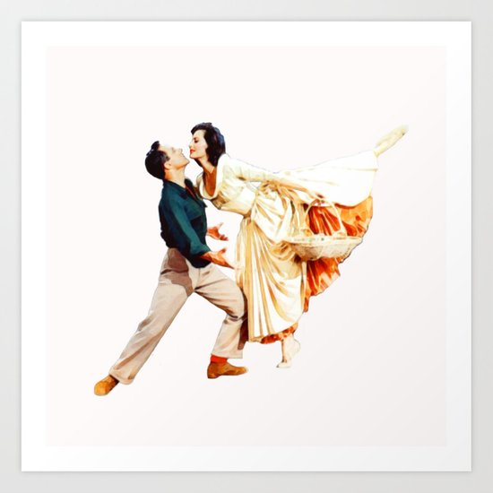 Gene Kelly and Cyd Charisse - Brigadoon by classicmovieart
