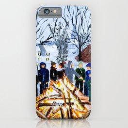 Winter Wassail Bonfire iPhone Case