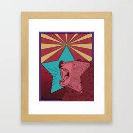 Star Beary Framed Art Print