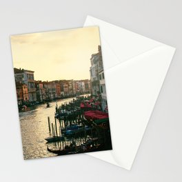 Venice on sunset Stationery Cards