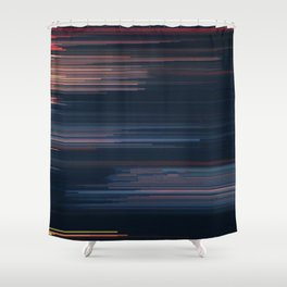 Glitched v.4 Shower Curtain