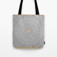 wooden Tote Bags featuring Wooden Popart by Pepita Selles