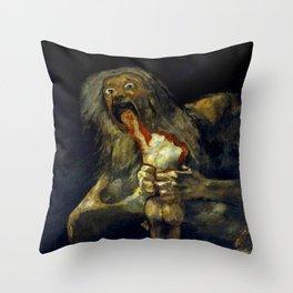 "Francisco Goya ""Saturn Eating his Son"" Throw Pillow"