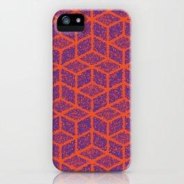 Kenna (Orange and Violet) iPhone Case