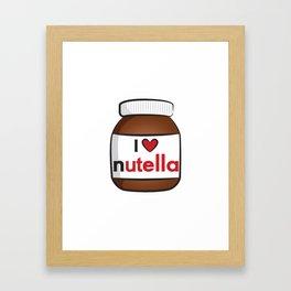 Nutella Cute Framed Art Print