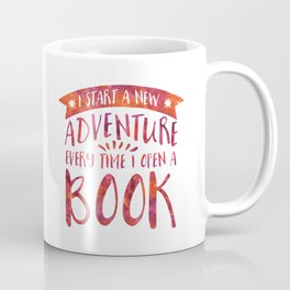 I Start a New Adventure Every Time I Open A Book Watercolour (V2) Coffee Mug