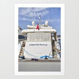 Ferretti 881 Powerboat Art Print